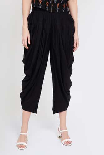 MELANGE Solid Elasticated Patiala Pants