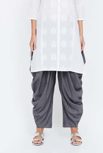 MELANE Solid Patiala Pants