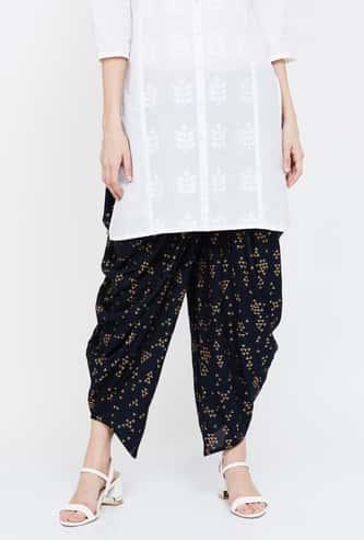 MELANGE Foil Print Dhoti Pants