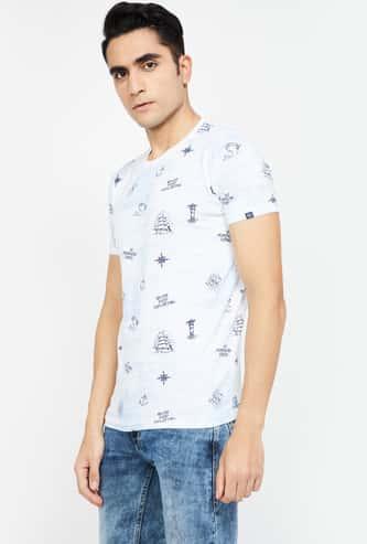 PEPE JEANS Printed Slim Fit Crew-Neck T-shirt
