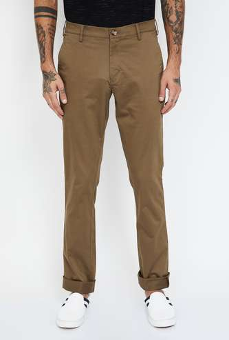 COLORPLUS Solid Super Slim Satin Stretch Chinos