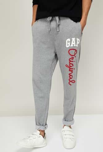 GAP Men Printed Slim Tapered Track Pants