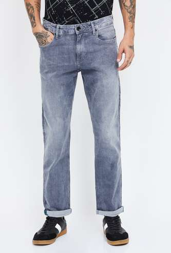 UNITED COLORS OF BENETTON Stonewashed Slim Tapered Jeans