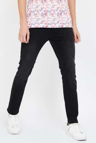VOI JEANS Solid Skinny 5-Pocket Jeans