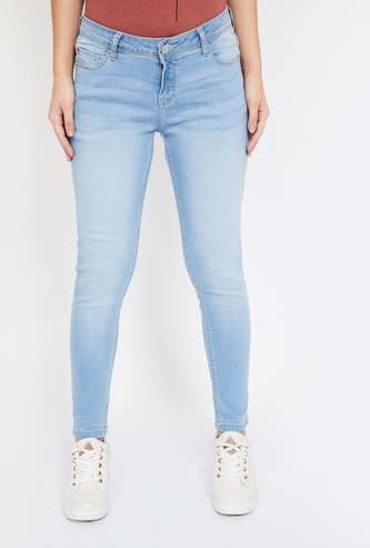 LEE COOPER Stonewashed Skinny Fit Jeans