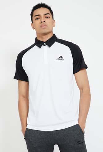 ADIDAS Colourblocked Regular Fit Polo T-shirt