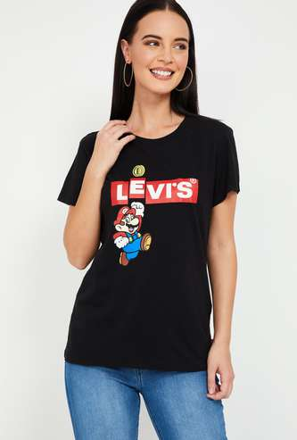 LEVI'S Printed Regular Fit Round Neck T-shirt