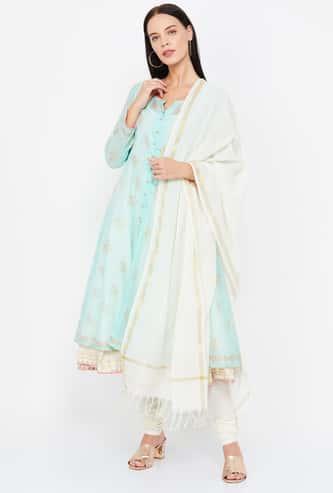 BIBA Printed Salwar Suit Set with Inner