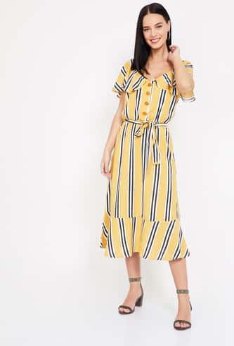 VERO MODA Striped Midi Dress