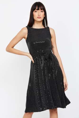 CODE Embellished A-line Dress
