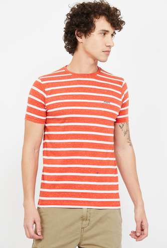PEPE JEANS Striped Slim Fit Crew-Neck T-shirt