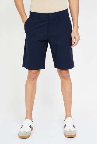 U.S. POLO ASSN. Solid Slim Fit Casual Shorts