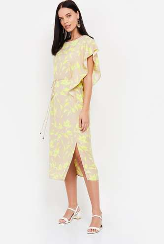 Vero Moda Printed Shift Dress with Side Slit