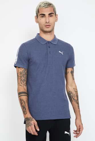 PUMA Solid Slim Fit Polo T-shirt