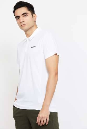 ADIDAS Solid Regular Fit Polo T-shirt