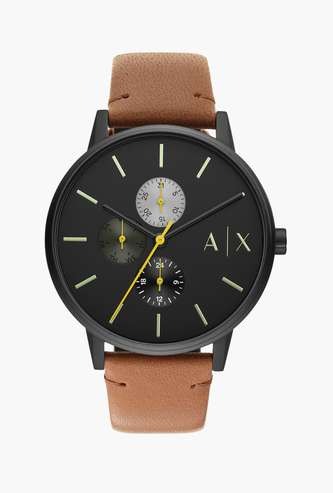 ARMANI EXCHANGE Men Analog Watch with Leather Strap - AX2723