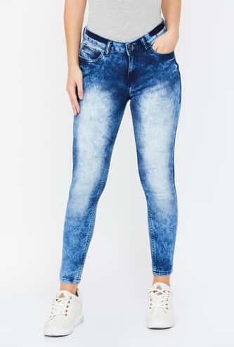 MS. TAKEN Stonewashed Skinny Fit Jeans