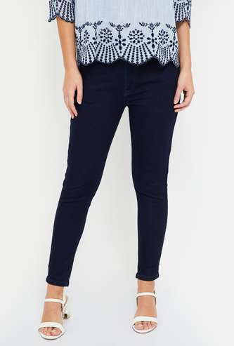 MS. TAKEN Solid Skinny Fit Jeans
