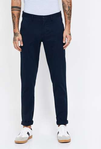 ARROW SPORT Solid Slim Fit Trousers