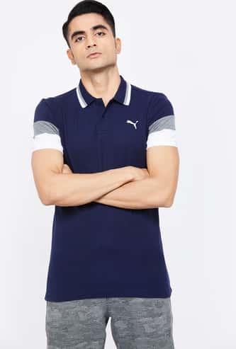 PUMA Solid Short Sleeves Slim Fit Polo T-shirt