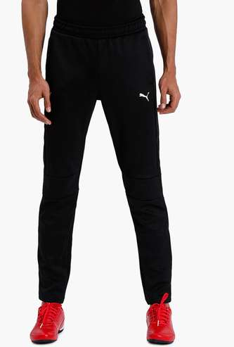 PUMA Solid Elasticated Regular Fit Track Pants