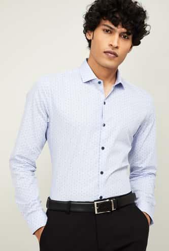 CODE Men Printed Slim Fit Formal Shirt