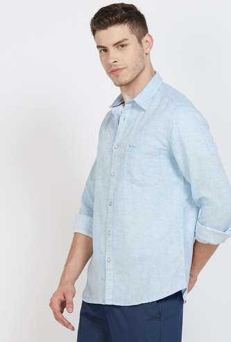 PEPE JEANS Solid Regular Fit Casual Shirt