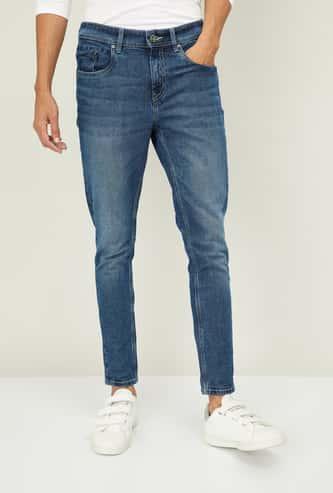 BOSSINI Men Stonewashed Skinny Fit Jeans