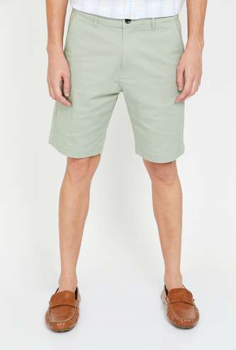 FORCA Men Solid Slim Fit Casual Short