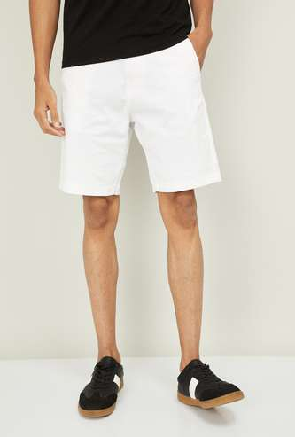 FORCA Men Solid Slim Fit Shorts