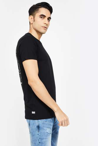 VOI JEANS Printed Regular Fit Crew Neck T-shirt