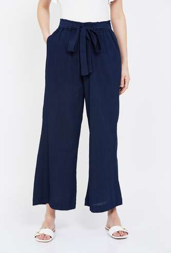 MS. TAKEN Solid Elasticated Palazzos