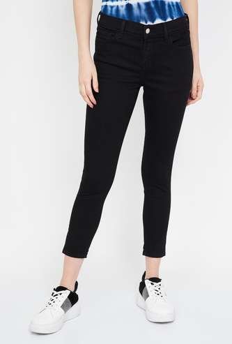 LEVI'S Solid Skinny Cropped Jeans