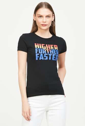 FREE AUTHORITY Typographic Print Short Sleeves T-shirt