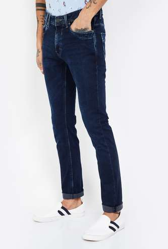 LOUIS PHILIPPE JEANS Albert Stonewashed Skinny Fit Jeans