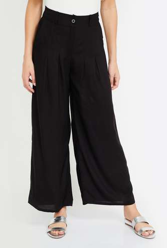 W Solid Elasticated Palazzos