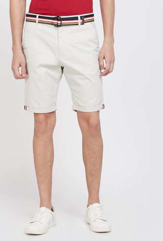 T-BASE Solid Regular Fit Shorts