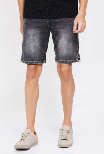 UNITED COLORS OF BENETTON Stonewashed Denim Shorts
