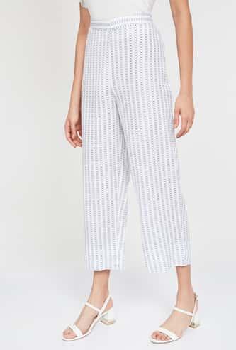 GLOBAL DESI Printed Cropped Straight Pants