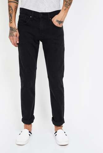 LEVI'S 65504 Solid Skinny Fit Jeans