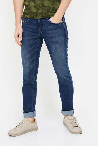 LEE COOPER Men Stonewashed Slim Tapered Jeans
