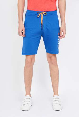 STATUS QUO Printed Regular Fit Elasticated Shorts