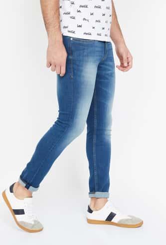 ED HARDY Stonewashed Skinny Fit Jeans