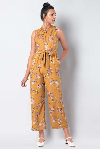 FABALLEY Printed Sleeveless Jumpsuit