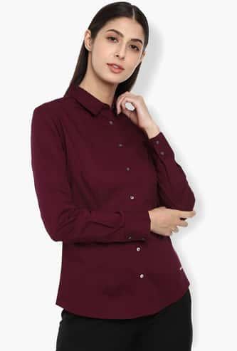 VAN HEUSEN Solid Regular Fit Shirt