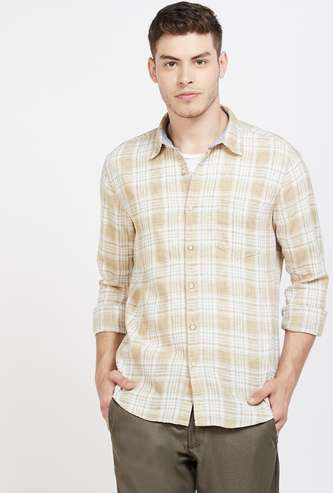 PEPE JEANS Checked Full Sleeves Regular Fit Casual Shirt