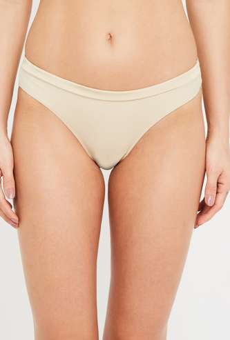 AMANTE Solid Elasticated Bikini Panty