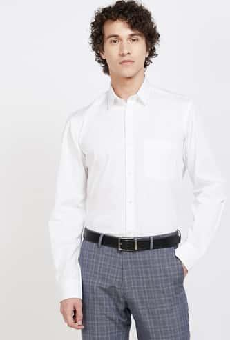 COLORPLUS Solid Full Sleeves Slim Fit Formal Shirt