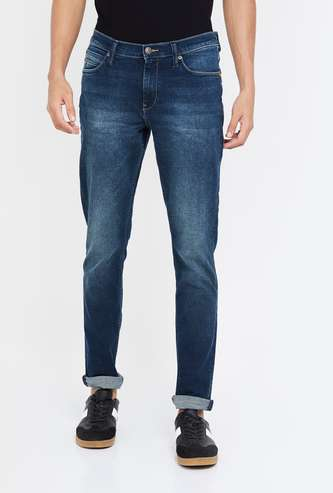 LEE Men Stonewashed Skinny Fit Jeans