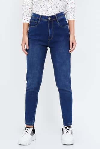 KRAUS Stonewashed Skinny Fit Jeans